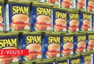 origine mot spam