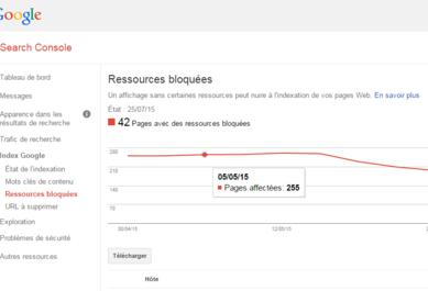 Accès de Googlebot aux fichiers CSS et JS impossible