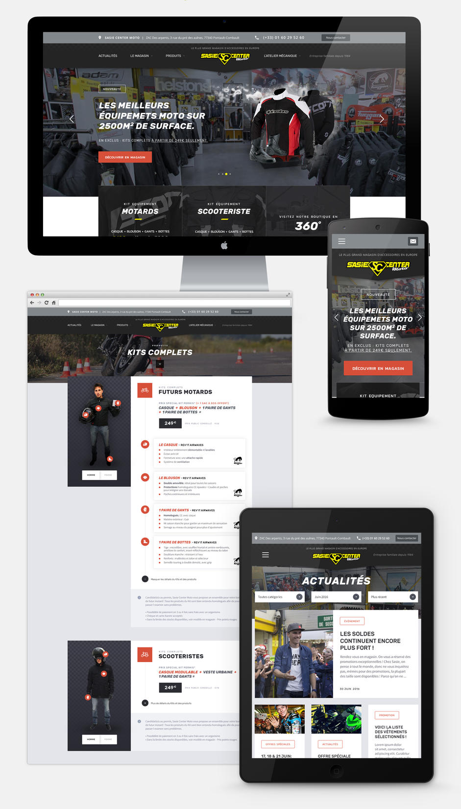sasie center moto agence web paris. Black Bedroom Furniture Sets. Home Design Ideas